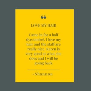 Expert Hair Colour at Karen Wright Salon in Thornton Heath in Croydon